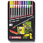 Rotulador edding 1200 Colourpen punta de fibra colores surtidos 10 unidades