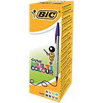 Bolígrafo BIC Cristal Multicolor surtido ancho 20 unidades