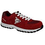 Zapatos Dunlop piel, malla talla 44 s3 rojo