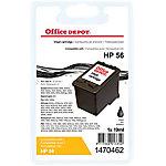 Cartucho de tinta Office Depot compatible hp 56 negro c6656a