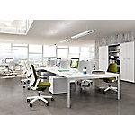 Mesa operativa de oficina Quadrifoglio Practika P3 blanco 1.200 x 800 x 730 mm