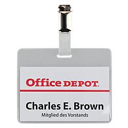 Identificador Office Depot con clip 90 x 60 mm 50 unidades