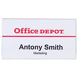Identificador Office Depot con pinza e imperdible Horizontal 75 x 40 mm 50 unidades