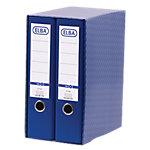 Módulo de 2 archivadores ELBA 80 mm cartón A4 azul 2 unidades