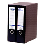 Módulo de 2 archivadores ELBA 80 mm cartón A4 negro 2 unidades