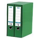 Módulo de 2 archivadores ELBA 80 mm cartón A4 verde 2 unidades