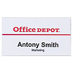 Identificador Office Depot con pin Horizontal 75 x 40 mm 50 unidades