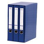 Módulo de 3 archivadores ELBA 45 mm cartón A4 azul 3 unidades