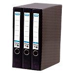Módulo de 3 archivadores ELBA 45 mm cartón A4 negro 3 unidades