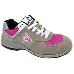 Zapatos Dunlop piel, malla talla 36 s3 gris