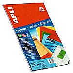 Etiqueta adhesiva APLI 01601 Rojo 20 etiquetas por paquete