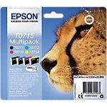 Cartucho de tinta Epson original t0715 negro, cian, magenta, amarillo c13t07154012 4 unidades