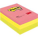 Notas adhesivas Post it 152 x 102 mm amarillo, rosa, verde neón 6 unidades de 100 hojas