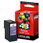 Cartucho de tinta Lexmark original 43xl 3 colores 18yx143e