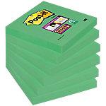 Notas adhesivas Post it 76 x 76 mm verde 6 unidades de 90 hojas