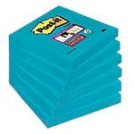 Notas adhesivas Post it 76 x 76 mm azul 6 unidades de 90 hojas