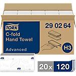 Toallita secamanos Tork Advanced Plegada en C 2 capas 20 unidades de 120 hojas