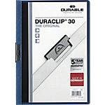 Dossier con pinza DURABLE Duraclip A4 azul pvc con pinza 3 mm