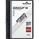Dossier con pinza DURABLE Duraclip A4 negro pvc con pinza 3 mm
