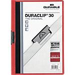 Dossier con pinza DURABLE Duraclip A4 rojo pvc con pinza 3 mm