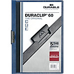 Dossier con pinza DURABLE Duraclip azul pvc con pinza 6 mm