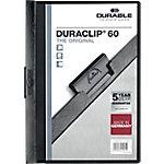 Dossier con pinza DURABLE Duraclip A4 negro pvc con pinza 6 mm