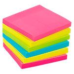 Notas Extra adhesivas Office Depot 76 x 76 mm magenta, amarillo, verde, azul 6 unidades de 90 hojas