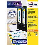 Etiqueta opaca AVERY Zweckform A4+ blanco 61 mm blanco 25 hojas de 4 etiquetas