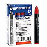 Cera plástica STAEDTLER Lumocolor Omnigraph 236 2 rojo 12 unidades