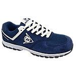 Zapatos Dunlop piel, malla talla 42 s3 azul marino