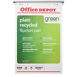 Bloc de recambio para tablero reciclable Office Depot Euro 70 g/m² liso 5 unidades de 20 hojas