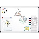Pizarra blanca Office Depot Standard acero lacado magnético 120 x 90 cm