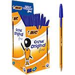 Bolígrafo BIC Cristal Fine azul fino 50 unidades