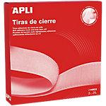 Tira adhesiva de cierre APLI En rollo blanco 2 cm