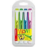 Marcador fluorescente STABILO Swing Cool punta biselada colores surtidos 4 unidades
