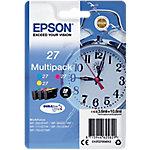 Cartucho de tinta Epson original 27 cian, magenta, amarillo c13t27054012 3 unidades