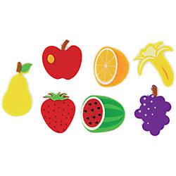 Figuras adhesivas fieltro Smart Wall Paint  Frutas  colores surtidos 24 unidades