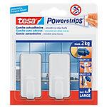 Gancho adhesivo tesa Powerstrips plástico blanco 2 unidades