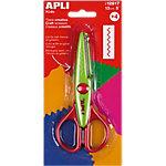 Tijeras creativas APLI Corte Zig Zag verde, rojo 130 mm