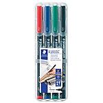 Rotulador STAEDTLER Lumocolor 313 punta de fibra 0.4 mm colores surtidos 4 unidades