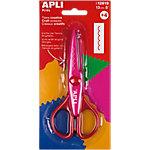 Tijeras creativas APLI Corte dentado rosa 130 mm
