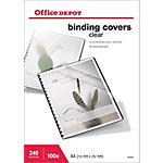 Tapa de encuadernación Office Depot A4 pvc 240 µm transparente 100 unidades