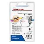 Cartucho de tinta Office Depot compatible epson t0715 negro & 3 colores c13t07154010 4 unidades