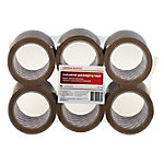 Precinto silencioso Office Depot Industrial 48 mm x 66 m marrón 6 rollos