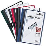 Dossier DURABLE Duraclip A4 surtido pvc con pinza 3 mm 5 unidades
