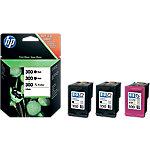 Cartucho de tinta HP original 300 negro & 3 colores sd518ae 3 unidades