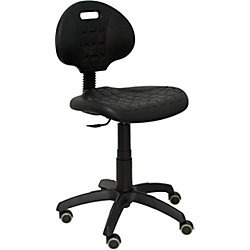 Silla de oficina Paterna con ruedas de parquet Negro   Viking