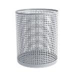 Papelera metálica Foray Mesh gris metal