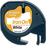 Cinta para rotuladora DYMO Letratag negro sobre blanco 12mm (a) x 4cm (p) x 12cm (h) x 2m (l)