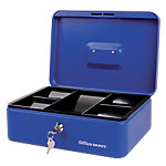 Caja de caudales Office Depot azul 300 x 210 x 100 mm